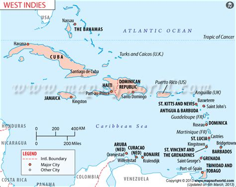 map of caribbean islands west indies map