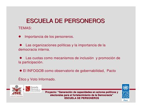 Escuela De Personeros 01 Jurado Nacional De Elecciones Jnegobpe | escuela de personeros 01 jurado nacional de elecciones