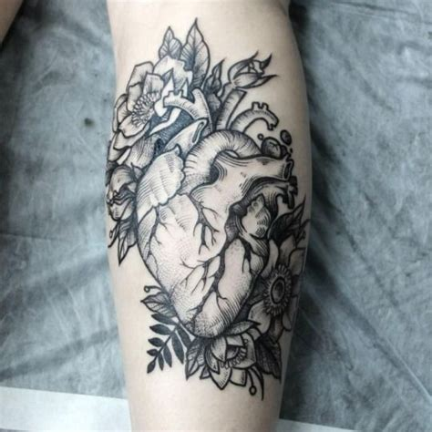 real heart tattoos collection of 25 realistic on muscles