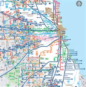 Train Line Map Chicago by Chicago Map Metra Train
