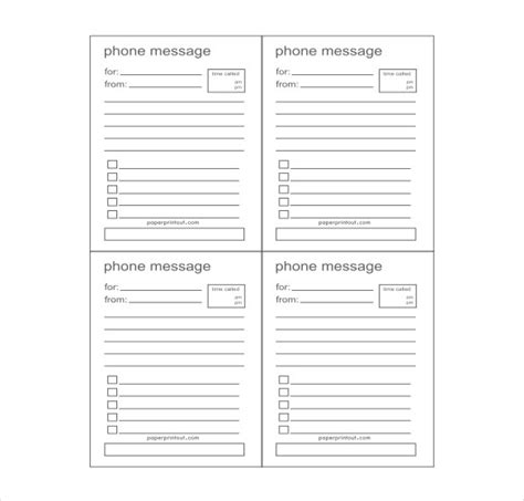 telephone memo template phone message template peerpex