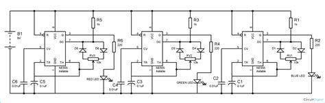 led light bulb circuit rgb led bulb circuit diagram using 555 timer ics
