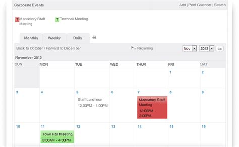 calendar companies get organized with event calendar on your corporate intranet