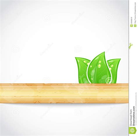 natural background with eco green leaves and wood royalty