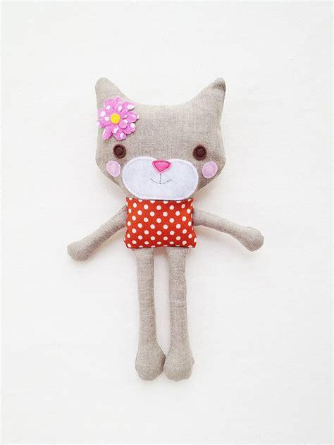 shirt pattern for stuffed animal cat sewing pattern mini toy plush cat pattern pdf via