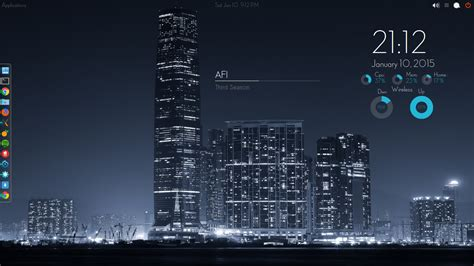conky manager themes kali linux adele wifi and eth0 conky made for conky manager by