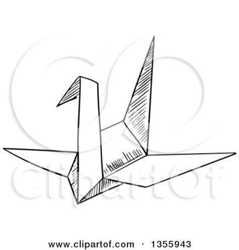 How To Write Origami In Japanese - clipart of a black and white sketched sacred gate torii