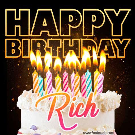 rich animated happy birthday cake gif  whatsapp   funimadacom