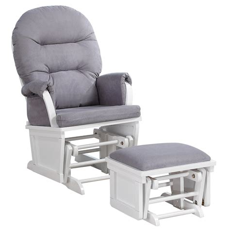 grey and white glider and ottoman baby rocker glider ottoman chair nursery rocking furniture