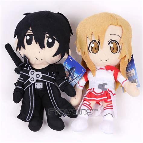 sword art  kirigaya kazuto kirito asuna plush toy