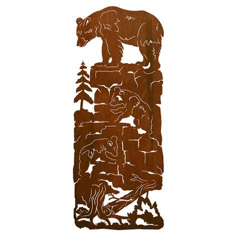 Western Kitchen Cabinet Hardware Mama Bear Amp Cubs Metal Wall Art