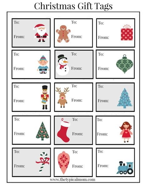 free printable gift tags from organized christmas com free printable christmas labels 183 the typical mom