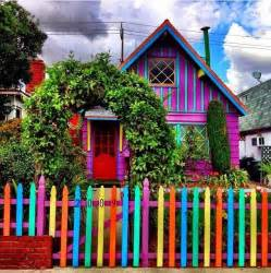 colorful house a house in every color of the rainbow