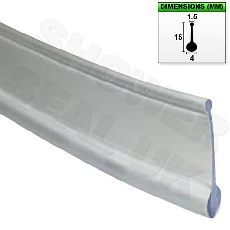 Shower Doors Seals Shower Seal For Bi Fold Channel Profile Folding Glass Door Clear 1m Ebay