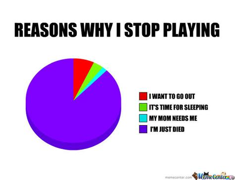Quit Playing Meme - reasons why i stop playing by esotopo meme center