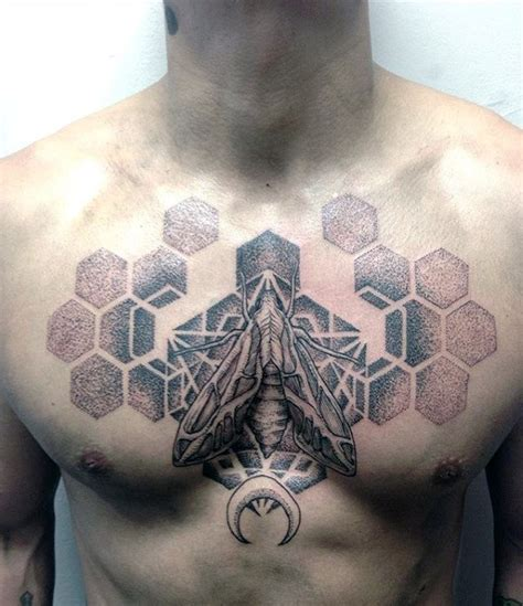 geometric hexagon tattoo 90 moth tattoos for men nocturnal insect design ideas