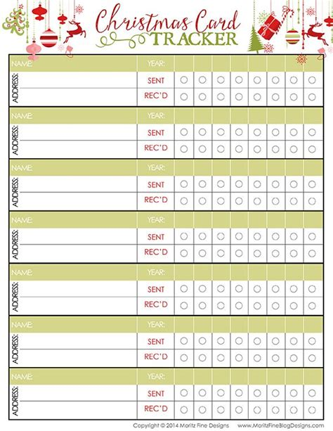 Free Printable Card List Template