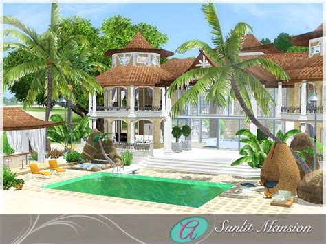 The Sims 2 Kitchen And Bath Interior Design aloleng s sunlit mansion beach house