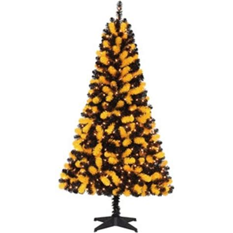 holiday time pre lit 6 artificial christmas tree yellow