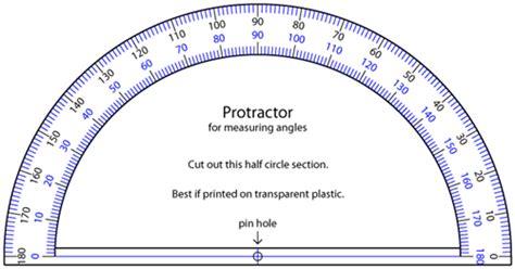 protractor printable version vectors