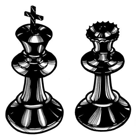 chess piece designs chess pieces tattoo designs cliparts co