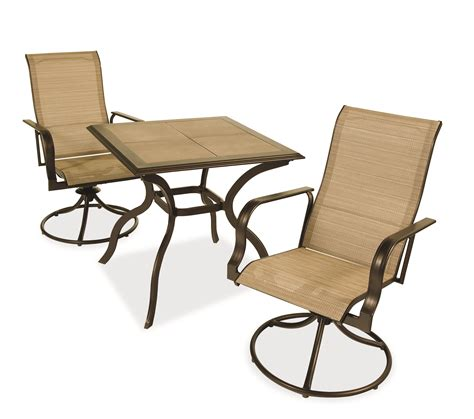 Patio Set With Swivel Chairs Casual Living Worldwide Recalls Swivel Patio Chairs Due To Fall Hazard Sold Exclusively At Home