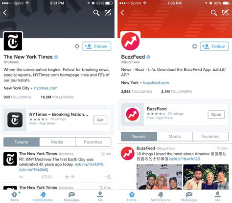 twitter application twitter s ios app now showing apps on profile pages new
