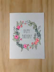 what to draw for a birthday card 25 best ideas about diy birthday cards on