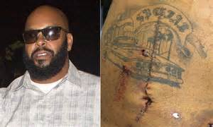 Riddled with bullet holes the shocking picture of rapper suge knight