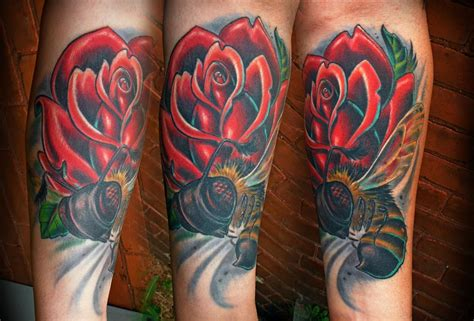 rose and bee tattoo the map