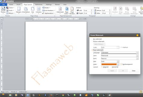 membuat watermark microsoft word cara membuat text watermark di microsoft word