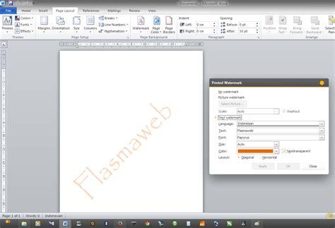 membuat watermark di microsoft word cara membuat text watermark di microsoft word