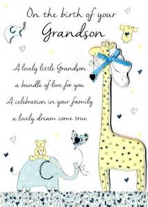 new baby grandson congratulations greeting card cards