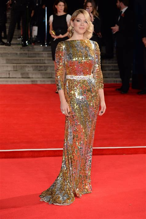 lea seydoux red dress best dressed of the week 30 10 15 sequins chopard and