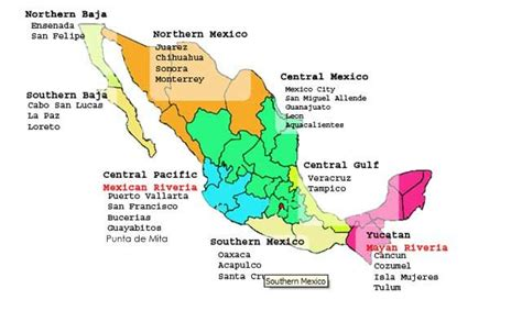 regional map of mexico punta margarita mexico punta de mita tourist and