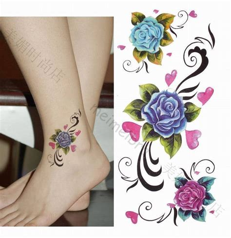 violet rose tattoo beautiful violet ankle tattooshunt