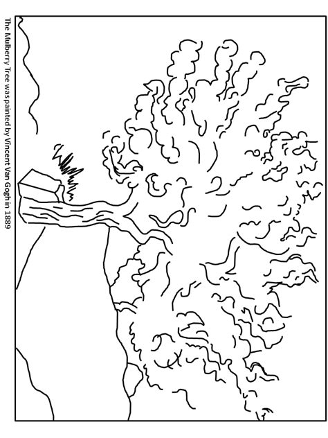 van gogh coloring pages pdf van gogh mulberry tree netherlands coloring pages