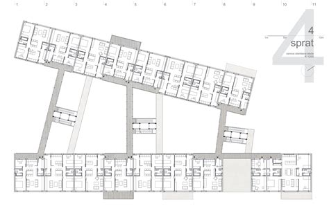 floor plan scale 1 100 passerelle housing katarina mijic