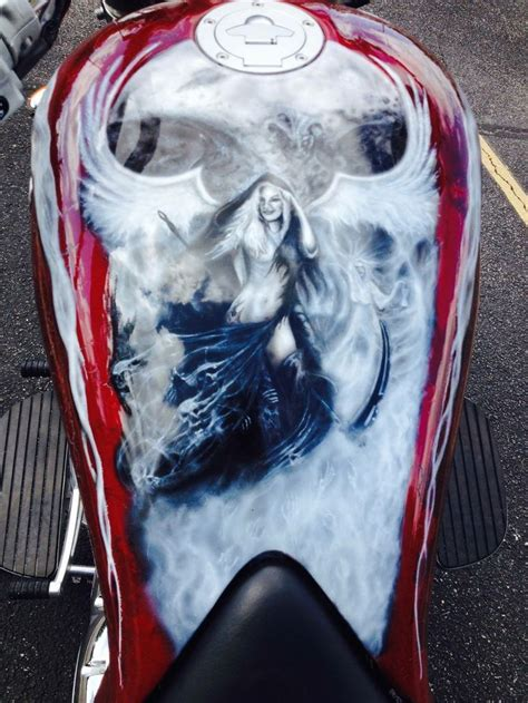 airbrushed motocross magic paintwork gas tank pinterest airbrush art