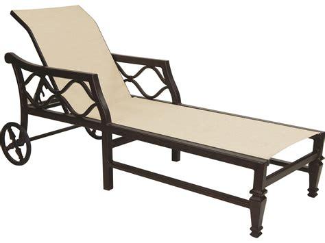 cast aluminum chaise lounge with wheels castelle villa bianca sling cast aluminum adjustable