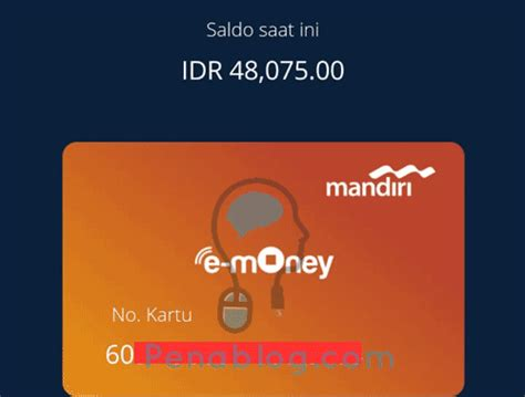 Mandiri E Money E Toll Card Saldo 30 000 E Money E Toll Emoney 2 cara cek saldo e money mandiri di hp android penablog