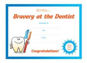 Bravery Certificate Template by Bravery At The Dentist Ichild