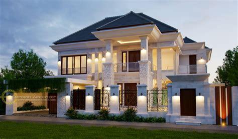 desain rumah di indonesia desain rumah mewah klasik tropis di jakarta jasa arsitek