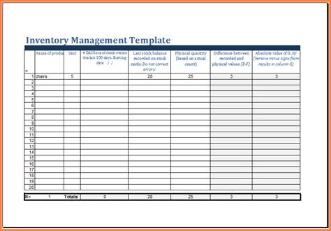 8 inventory management spreadsheet excel spreadsheets group