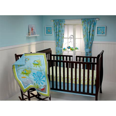 crib bedding walmart little bedding by nojo ocean dreams 3pc crib bedding set