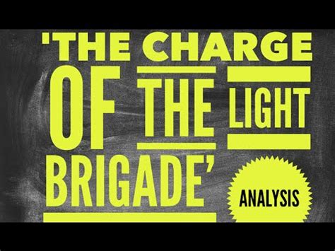 charge of the light brigade analysis alfred lord tennyson s the charge of the light brigade