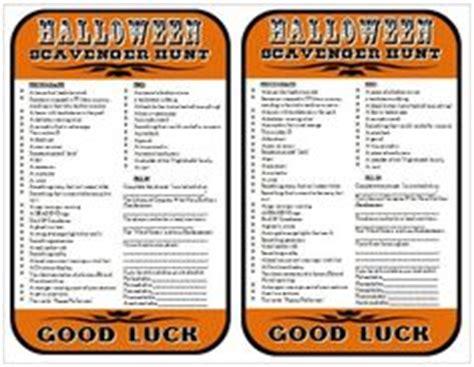 1000+ ideas about halloween scavenger hunt on pinterest