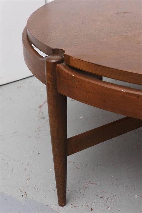 walnut bassett coffee table 1960s usa at 1stdibs