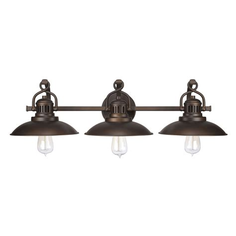 3 Light Bathroom Fixtures Capital Lighting Fixture Company Oneill Burnished Bronze Three Light Bath Vanity On Sale