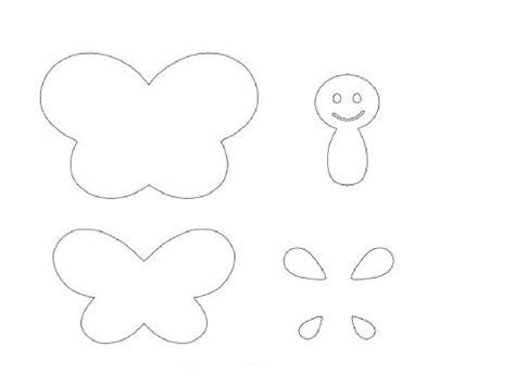 moldes para mariposas de papel como hacer mariposas de fieltro